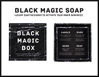 The Soap Company: Black Magic Box Bath Set