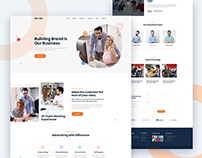 Maxon - Creative Agency template PSD (Free Download)
