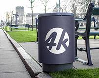 Free Trash Can PSD MockUp in 4k