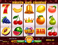"Online slot machine for SALE - ""Fruits and Crowns"""