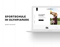 Sportschule im Olympiapark - Website Redesign