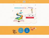 Personalized Books for Children Website Design