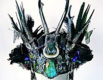 MORGAINE LE FAY Deer Skull Antler Headdress