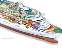 Royal Caribbean Cruise Line illustrations