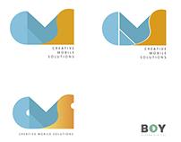 Indentidad visual (CREATIVE MOBILE SOLUTION) branding