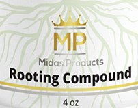 Rooting Gel label and packaging for Midas Products
