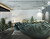 Bold small apartment