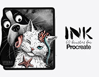 Ink Brushes for Procreate By: Lettie Blue