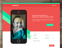 Indipixel - Free Single Page PSD Template for Web