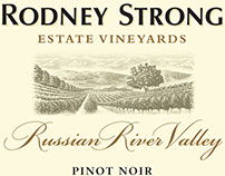 Rodney Strong Winery Labels Illustrated by Steven Noble