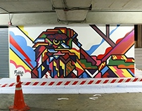 Int Intersect Parking Wall Bangkok Rama 3