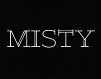 Misty font