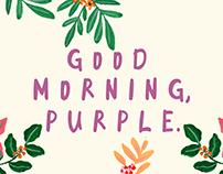 FREE FONT : GOOD MORNING PURPLE