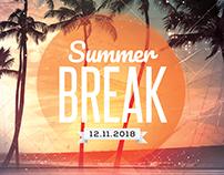 Summer Break - PSD Flyer Template