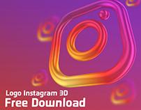 Instagram Logo 3D Rendering - Free Download