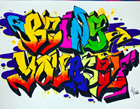 Graffiti expiremental sketch - 'Be yourself- BE YOU'