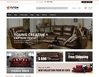 Futon - Furniture eCommerce Bootstrap 4 Template