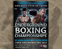 Design poster boxing