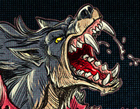 Cover Illustration: Werewolves VS. Space