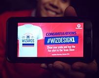 Winner of 2015 Washington Wizards Shirt Design Contest