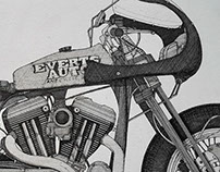 Harley custom made by Architectural Drawing Tecnique.