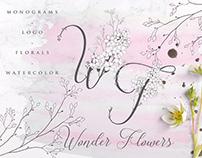 Wonder Flowers ~ Flowered Monogram & Logo Collection
