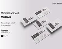 Minimalist Card Mockup