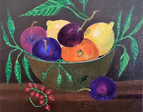 """ Fruits Still Life Painting """