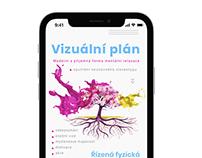 UX design služby Vizuální plán značky Balzám na nervy