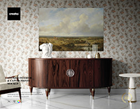 Antique Interior Canvas Print Many Sizes Mockup Set