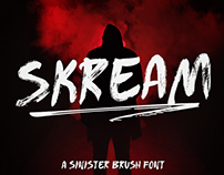 SKREAM - FREE HORROR BRUSH FONT