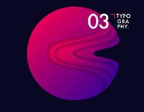 Planet typography