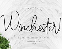 WINCHESTER SIGNATURE STYLE - FREE SCRIPT FONT