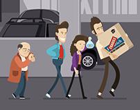 Seinfeld Parking Garage - Animated Gif