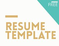 Free Minimalistic Resume
