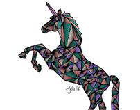Unicorn and human