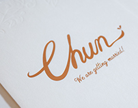 Chun, Wedding Invitation
