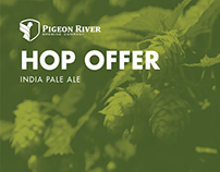 Pigeon River Hop Offer India Pale Ale Identity