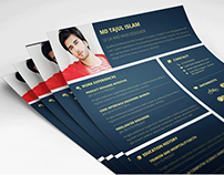 21 Handsomely Created (Dark) PSD Resume Templates