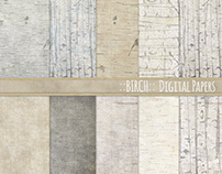 Birch Digital Paper Pack - Wood Backgrounds