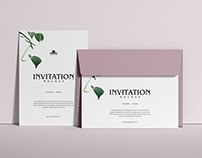 Free PSD Invitation Mockup