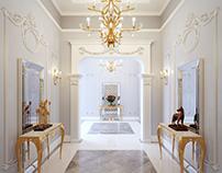 Soft and classy Dubai style villa interior