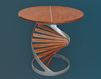 Double Helix side table