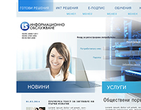 Information services plc site and print materials