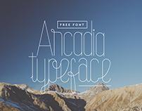 Arcadia Typeface (Free & Editable)