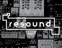 Resound modular typeface