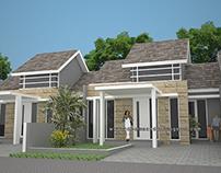 Design & Build rumah tropis moderen, umah 1 lantai di g