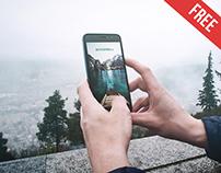 Smartphone in Hand – Free PSD Mockup