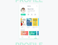 Books App Concept - Profile