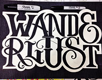 """Wanderlust"" Lettering"